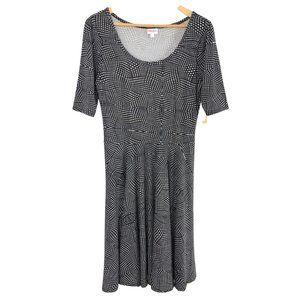 Lularoe NICOLE Black & White Dress L 14/16 NWT